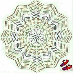 Crochet ripple blanket or can make a bigger rug chart pattern Free Crochet Doily Patterns, Crochet Doily Diagram, Crochet Pillow Pattern, Crochet Motif, Crochet Doilies, Crochet Stitch, Crochet Baby, Crochet Star Blanket, Crochet Stars