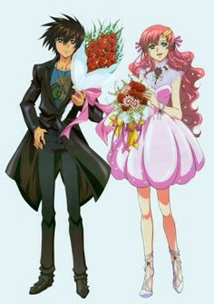 Mobile Suit Gundam SEED Destiny: Kira and Lacus Together - Minitokyo Gundam Wallpapers, Unicorn Gundam, Gundam 00, Familia Anime, Gundam Seed, Dynasty Warriors, Sweet Pic, Manga Characters, Mobile Suit