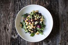 This is a green salad that is a full meal in itself. It's filled with avocado, chickpeas, black lentils, kalamata olives and optional feta cheese, making it a great high-protein salad perfect for vegetarians. Need yet another reason to try this black lentil and kale italia recipe? It's gluten-free!