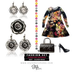 Signature Earrings with The Silver Rose Dots! shanette.styledotshome.com