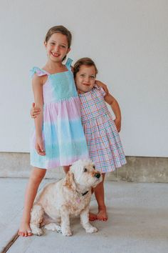 Drea little girl's rainbow tie dye seersucker flutter sleeve dress.The girl's cutest seersucker dressfor photoshoots, special occasions and fun functions! Heirloom quality clothes for girls. Runs true to size. Three-button closure and bow in back. Features ruffled cap sleeves and full skirt. 100% seersucker cotton. Ships within3-5 business days. Handmade in Texas. Newborn Fashion, Toddler Fashion, Toddler Outfits, Kids Fashion, Girl Outfits, Toddler Fun, Toddler Girl, Baby Kids, Seersucker Dress