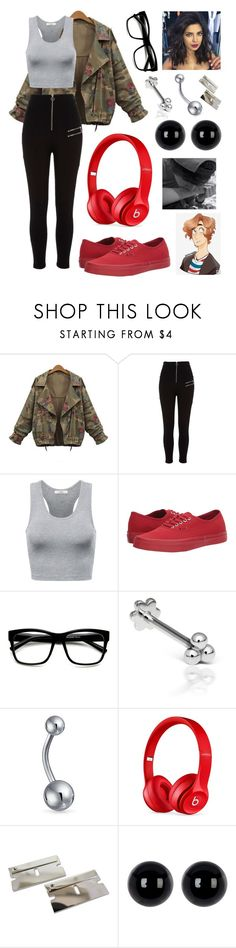 """""""Be More Chill"""" by fmlxmelissa ❤ liked on Polyvore featuring River Island, Vans, ZeroUV, Maria Tash, Bling Jewelry, Beats by Dr. Dre and Candela"""