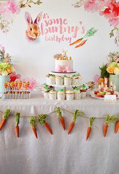 Bunny Themed Birthday Party
