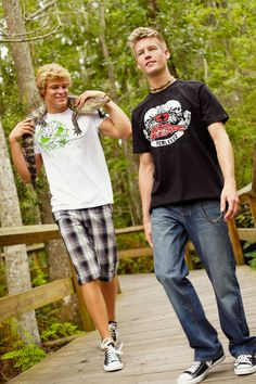No Fear tees and plaid shorts. #Studs #NoFear