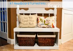 Our Love and Our Blessing: From Headboard To Bench  This is what I want to do with my old headboard and footboard....