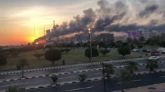 """Iran has dismissed US accusations it was behind drone attacks on Saudi Arabia's oil plants, and warned it is ready for a """"full-fledged"""" war. Barris, Weapon Of Mass Destruction, Oil Industry, Riyadh, Rest Of The World, Accusations, Saudi Arabia, Israel, Sunset"""
