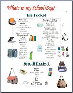 What's in my Bag? College edition. Lists some essentials to keep handy while on campus!