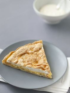 Tarte meringuée aux pommes et aux poires - Recette de cuisine Marmiton : une recette