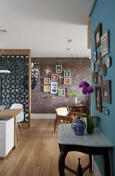 CATADOS - . . . . . . . . . . . . - Mauricio Menezes . . . . . . . . . . . . #mnz  . . . . . . . . . . .-  Apartamento compacto e colorido (Foto: Marquinhos / divulgação)