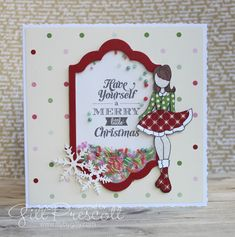 52 Christmas Card Throwdown Design Team – Page 5 – Lily-by-Gilly Stampin Up Christmas, Merry Little Christmas, Christmas Cards, Prima Doll Stamps, Beaded Boxes, Shaker Cards, Paper Background, Paper Piecing, I Card