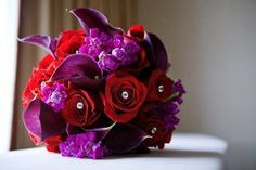 roses and callas bridal bouquet