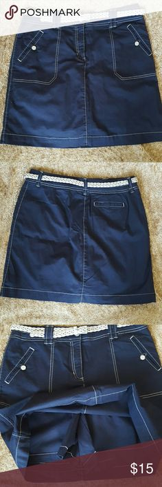 Skort Navy blue skort with belt. Karen Scott Shorts Skorts