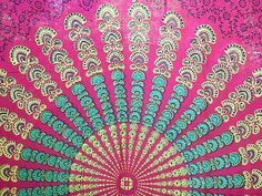 Bohemian Hippie Tapestry Fabric Colorful Starburst Pattern - Pink