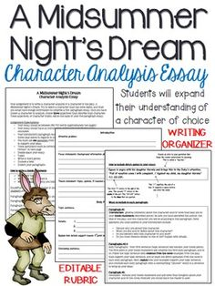 midsummer nights dream character analysis essay A midsummer night's dream: character profiles, free study guides and book notes including comprehensive chapter analysis, complete summary analysis, author biography information, character profiles, theme analysis, metaphor analysis, and top ten quotes on classic literature.