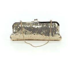 Ann Taylor LOFT Clutch ($20) ❤ liked on Polyvore featuring bags, handbags, clutches, gold, hand bags, gold hand bag, handbag purse, white clutches and white hand bags