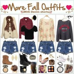 cute #fall2013 outfit denim shorts with sweater #cuteoutfit