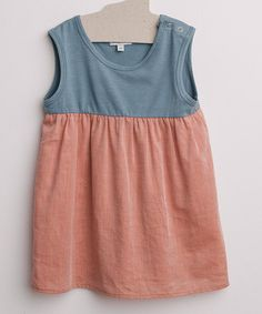 Look at this #zulilyfind! Red & Blue Organic Babydoll Dress - Infant & Toddler #zulilyfinds