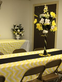 Yellow and Black Decorations