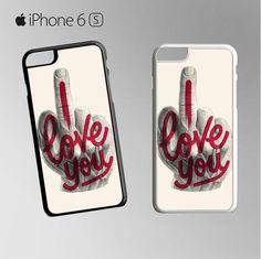 Iloveyou typograph design for Iphone 4/4S Iphone 5/5S/5C/6/6S/6S Plus/6 Plus/7/7 Plus Phone case