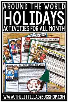 Find all your Winter Holiday Around the World activities for the entire season! Holiday Around the World Reading Comprehension, Holiday Around the World Templates for Research, Christmas Around the World Bulletin Board. You will love all these activities for your students in 3rd grade, 4th grade, 5th grade and home school classrooms. #holidayaroundtheworldactivities #christmasaroundtheworldactivities
