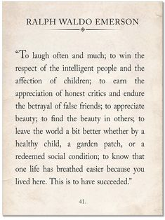 Ralph Waldo Emerson Vintage Book Page Literary Quote Art Print   Etsy