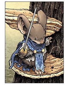 Mouseguard Stjepan by David Petersen Character Sketches, Character Concept, Character Art, Character Design, Concept Art, Mouse Guard Rpg, Figure Drawing Tutorial, Medieval, Fantasy Creatures
