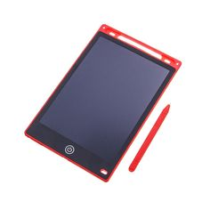Portable 12 inch LCD Writing Tablet Digital Drawing Board Handwriting Pads Electronic Tablet Ultra-thin Board - Red