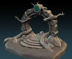 Cavern Environment - Asset Sculpts, Julian Vermeulen on ArtStation at https://www.artstation.com/artwork/arwRz
