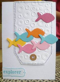 182 best fish fish cards images on pinterest fish card handmade project avrils fish card punched card fish card a project baby room m4hsunfo