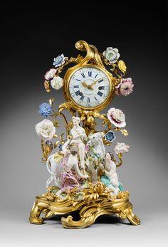 "A Louis XV Mantel clock ""Europa and the Bull"" by Gérard Benoît 1750"