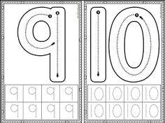 Preschool Number Worksheets, Preschool Writing, Numbers Preschool, Preschool Learning Activities, Learning Numbers, Preschool Printables, Preschool Lessons, Kindergarten Worksheets, Touch Math