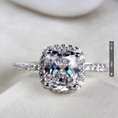2 25 Ct Cushion Cut Diamond Engagement Ring VVS1 D White Gold Hearts Arrows