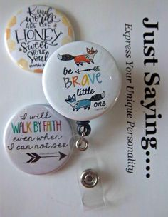 Be Brave Walk by Faith ~  Exchangeable System for Retractable Reel ID Holder