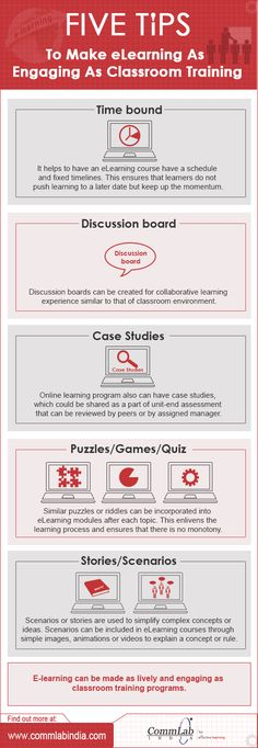 5 Tips to make #elearning as engaging as classroom training #infographic via @eLearning Infographics