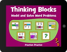 Thinking Blocks Fractions teaches children how to model and solve word problems with the Singapore Bar Model Method. The website has been available for almost 10 years, now in an easy to use ipad format.  Opinion?  Best bar model app out there. And they're free.