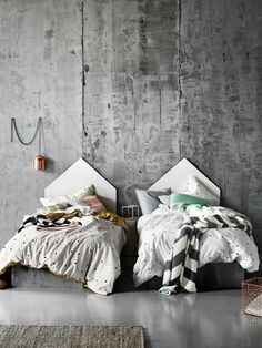 + | Dots in Gold, and Dots in Silver single quilt covers, kids bedroom, AURA Home, Winter 15