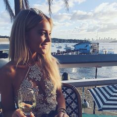 """GEORGIA MAE on Instagram: """"Pure bliss ⚓️ Sunshine, Wine & Tunes @watsonsbayboutiquehotel & The Captain Club Thank you babes @Theaudienceagency #AstonShuffle #CaptainsClub #sundaze"""""""