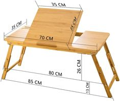 Large Bed Tray NNEWVANTE Adjustable Lap Desk Tilting Top Foldable Table Multi-tasking Stand Breakfast Serving Bamboo Supports up to Computer/Tablet(Smooth Flat) Laptop Table For Bed, Laptop Desk, Woodworking Projects Plans, Diy Woodworking, Bed Tray Diy, Wood Furniture, Furniture Design, Modern Furniture, Furniture Layout