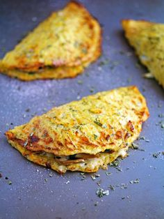 Baked Cheese Mushroom and Spinach Cauliflower Crust Calzone