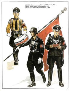 Some Nazi uniforms.