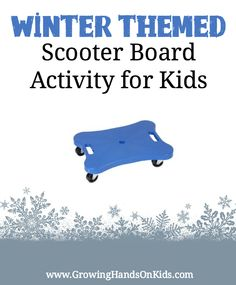 Perfect for improving bilateral coordination skills, a winter themed scooter board activity for kids. Perfect for improving bilateral coordination skills, a winter themed scooter board activity for kids. Proprioceptive Activities, Gross Motor Activities, Movement Activities, Gross Motor Skills, Sensory Activities, Winter Activities, Therapy Activities, Activities For Kids, Therapy Ideas