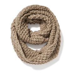 Old Navy Womens Honeycomb Stitch Infinity Scarf (18 CAD) ❤ liked on Polyvore featuring accessories, scarves, brown, infinity circle scarf, round scarf, old navy, thick infinity scarf and brown shawl