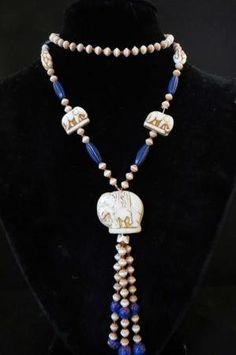 Art Deco Czech Max Neiger Glass Bead Necklace by DecatiqueStudios, $180.00