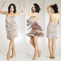 If the dress is dripping with fringe it will look fantastic when you spin. www.phoenixdancestudio.com.au