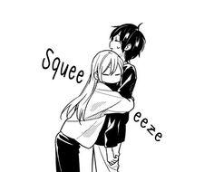 Anime Couples Drawings, Anime Couples Manga, Anime Couples Hugging, Best Anime Couples, Romantic Anime Couples, Manga Anime, Girls Manga, Tamaki, Cute Anime Coupes