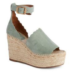 Women's Chloe Lauren Espadrille Wedge Sandal ($595) ❤ liked on Polyvore  featuring shoes,