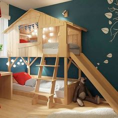 37 Extraordinary Kids Bedroom Design Ideas That Will Make Kids Happy Cool Kids Bedrooms, Kids Bedroom Designs, Room Ideas Bedroom, Kids Room Design, Baby Bedroom, Bed Design, Bedroom For Kids, Shared Bedrooms, Kids Beds For Boys