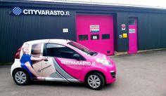 Cityvaraston pösö seikkailee Järvenpäässä! #cityvarasto #järvenpää #pinkki #peugeot