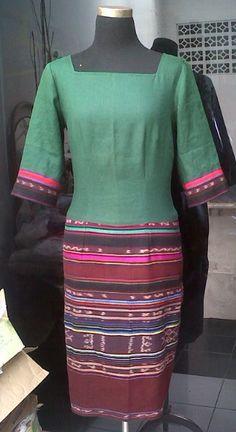 Linen ikat dress for Atiek