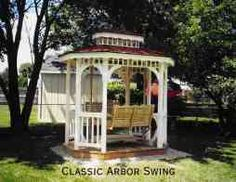 Lawn swing plans swings gliders and arbors by lawn for Victorian porch swing plans